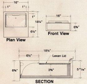 cash drawer bullet resistant products gaffco ballistics. Black Bedroom Furniture Sets. Home Design Ideas